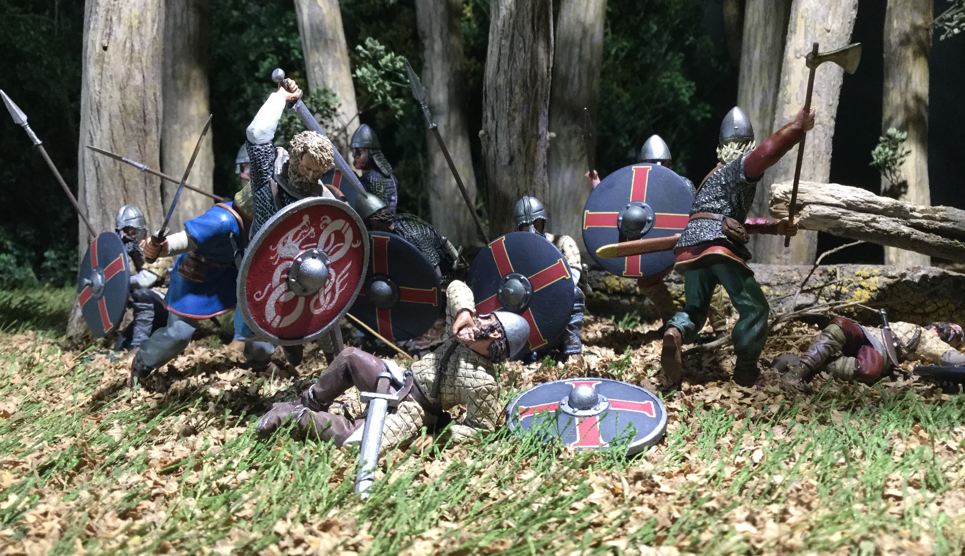 Advertising diorama from the W. Britain toy range Wrath of the Northmen