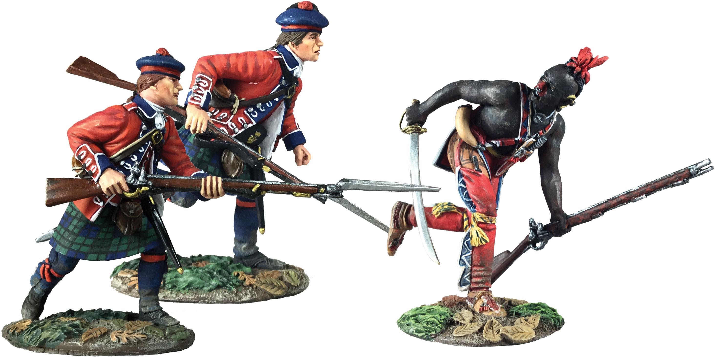 Battle of Bushy Run No.3-3 Pc Set//Limited Edition W Britain 16041 Art of War