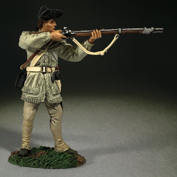 16069 - Continental Line in Hunting Shirt Standing Firing