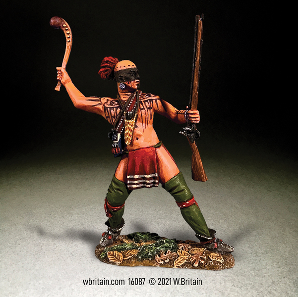 16087 Native Warrior Attacking with War Club