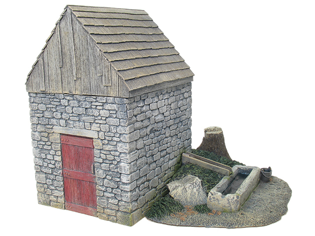 17717 - Springhouse with Trough & Stump Add-On