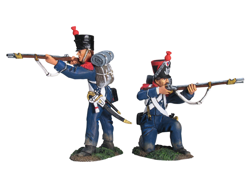 17724 - French Light Infantry Carabiniers Firing Line Set No.1