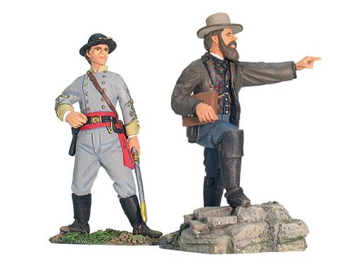 17817 - Stonewall Brigade, Jackson's Staff, Henry Kyd Douglas and Jed  Hotchkiss on Foot