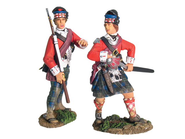17837 - Redoubt No.10, British 71st Highlanders Command, Officer and NCO