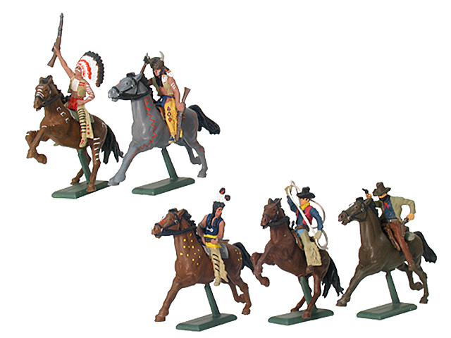 17853 - Wild West Cowboys and Indians Mounted
