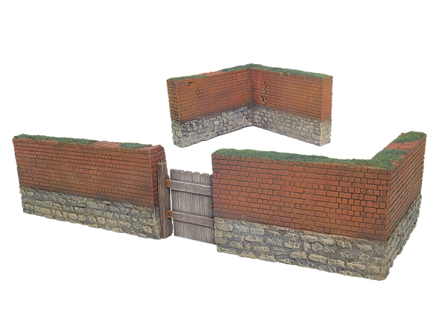 17909 - Brick Wall Section with Working Gate and Two Corner Sections