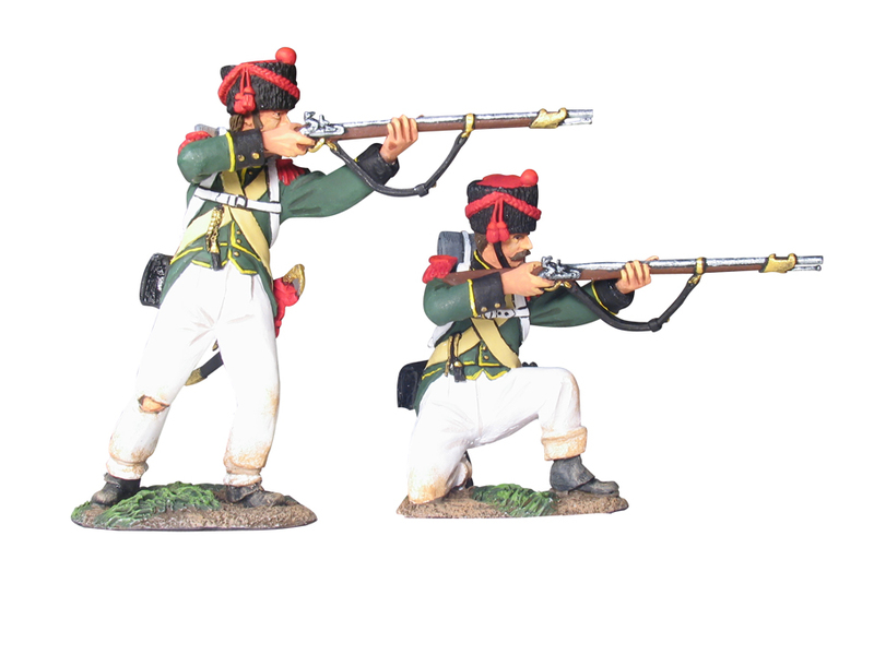 17987 - Nassau 2nd Light Infantry Regiment Carabiniers Firing Line Set No.1