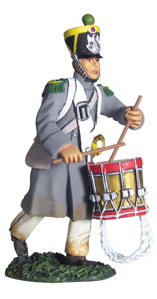 17996 - French Light Infantry Voltigeur Drummer Advancing No.1