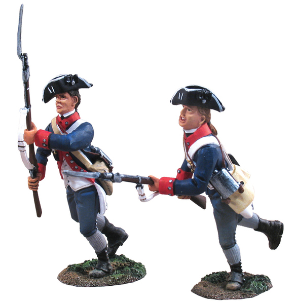 18000 - American Continental Line New Jersey Regiment Charging Set No.1