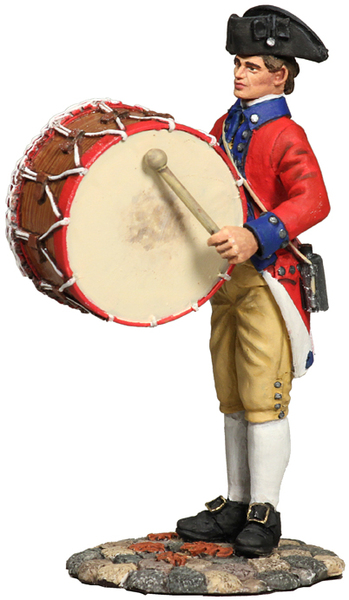 18034 - Virginia State Garrison Bass Drummer, 1770s