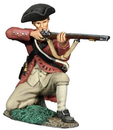 18047 - Colonial Militia Kneeling Firing No.1