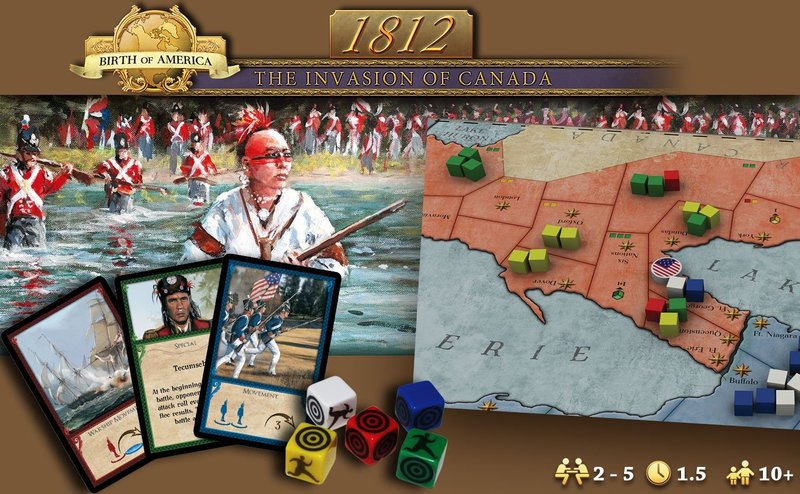 AG1812 Invasion of Canada Strategic Board Game