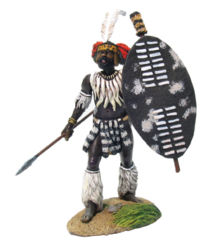 20001 - OSPREY ART SERIES - Zulu uMbonambi Regiment Advancing No.1