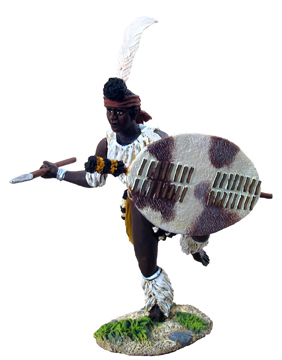 20035 - Zulu iNdlondlo Regiment Charging with Assegai No.1