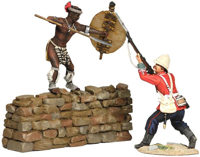 "20102 - ""The Bayonet"" - Fight for the Kraal, British 24th Foot and Zulu Hand-to-Hand Set No.5"