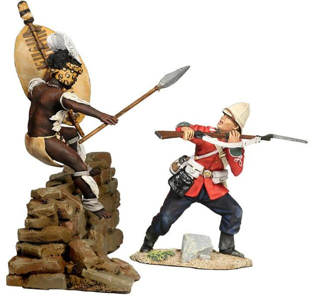 "20115 - ""Repulsed"" - Fight for the Kraal, British 24th Foot and Zulu Hand-to-Hand Set No.6"
