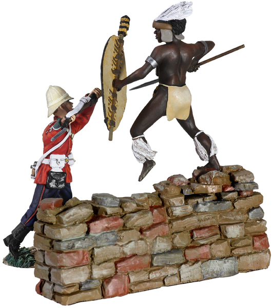 "20116 - ""Thrust"" - Fight for the Kraal - British 24th Foot and Zulu Hand-to-Hand Set No.8"