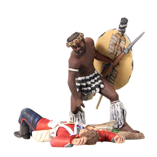 "20151 - ""Search for Ammo"" - Zulu Warrior Looting Ammo From a Dead British 24th Foot Solider"