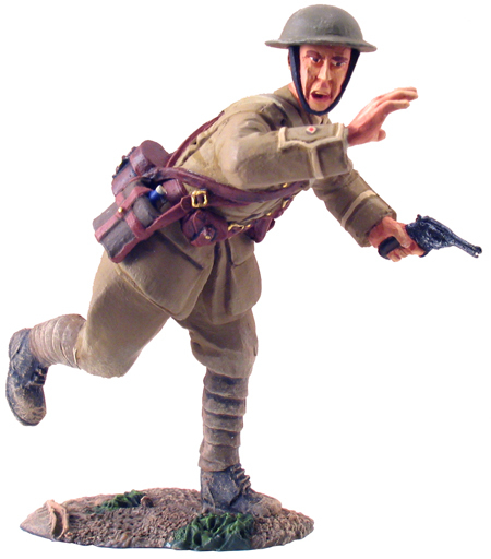 23017 - 1916 British Infantry Officer Advancing No.1