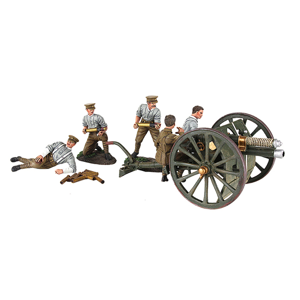 23078 - 1914 British 13 Pound Gun RHA with Five Man Crew
