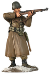 More about the '25066 - U.S. 101st Airborne in Greatcoat Standing Firing M-1 Garand, Winter 1944-45' product