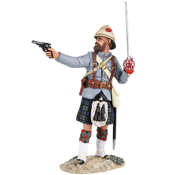27059 - British 42nd Highlander Officer Firing Pistol