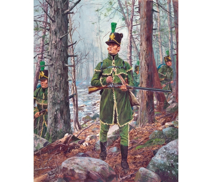 29R12 - 1st United States Rifle Regiment, 1812