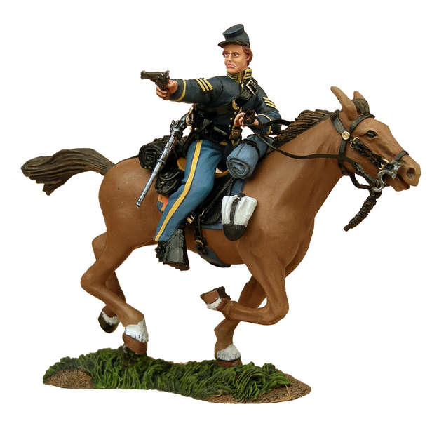 31018 - Union Cavalry Trooper Charging with Pistol No.1