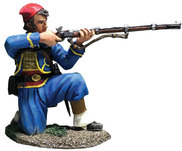 31285 Union Infantry 146th NY Zouave Kneeling Firing No. 1