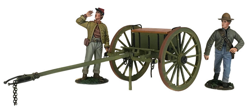 31293 - Confederate Light Artillery Limber With Two Man Crew -