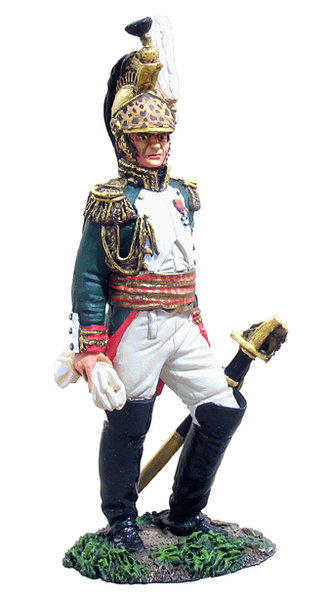 36013 - French Empress Dragoons General Louis-Michel Letort, Waterloo Campaign, 1815