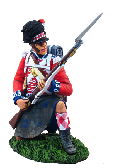 36022 - British 42nd (Black Watch) Highlander Kneeling Defending with Bayonet No.1