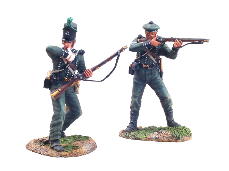 36037 - British 95th Rifles Chosen Man & Wounded Set - Waterloo, 1815