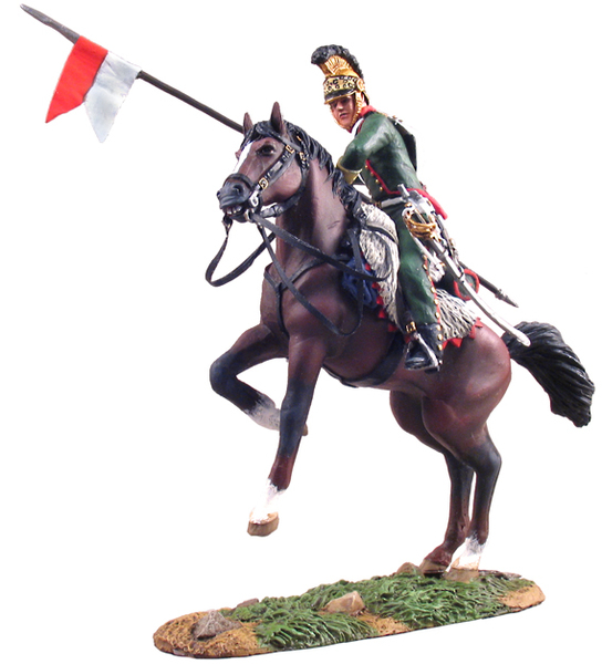 36053 - French 4th Lanver Trooper on Rearing Horse No.1