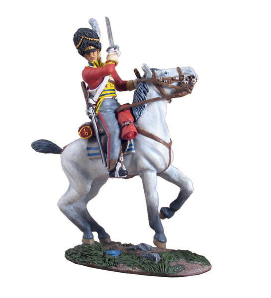 36060 - Waterloo Campaign British Scots Grey Trooper Slashing