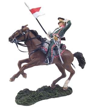 36059 - French 3rd Lancers Trooper Falling Wounded No.1