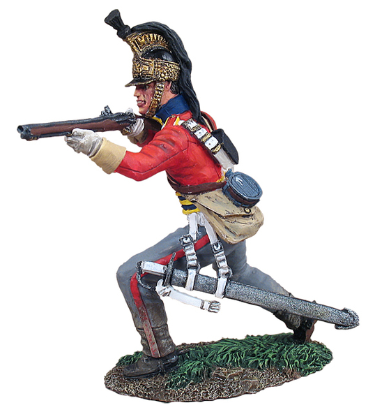 36082 - British 1st Royal Dragoon Trooper Dismounted Standing Firing No.1