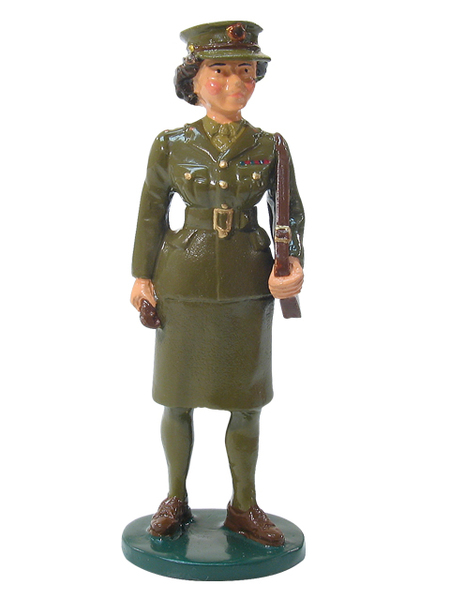 43052 - HRH Princess Elizabeth in WWII ATS uniform