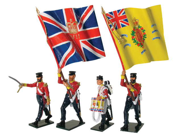 43076 - British 57th Regiment Command Set, Advancing