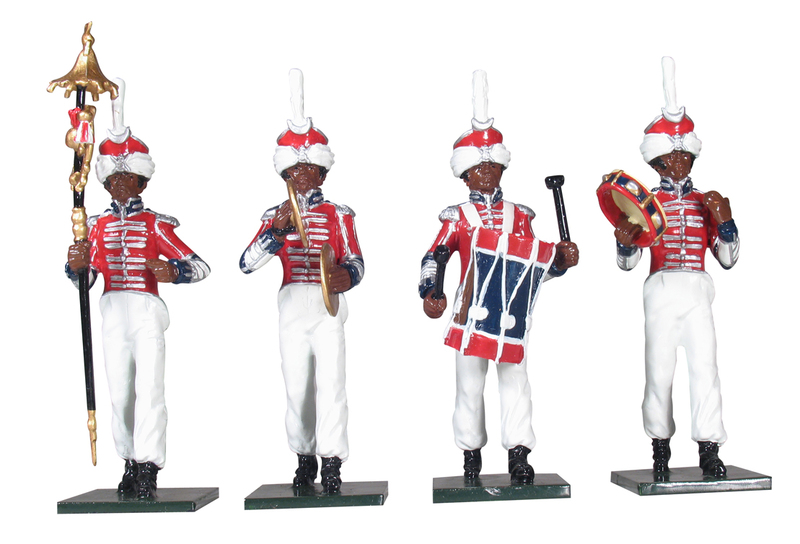 43105 - Bandsmen in Exotic Dress from the Coldstream Regiment of Foot Guards, Napoleonic Wars, 1815