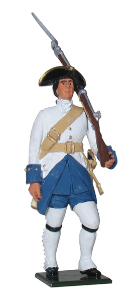 43147 - French Canadian Private, franches de la Marine, 1754-1763