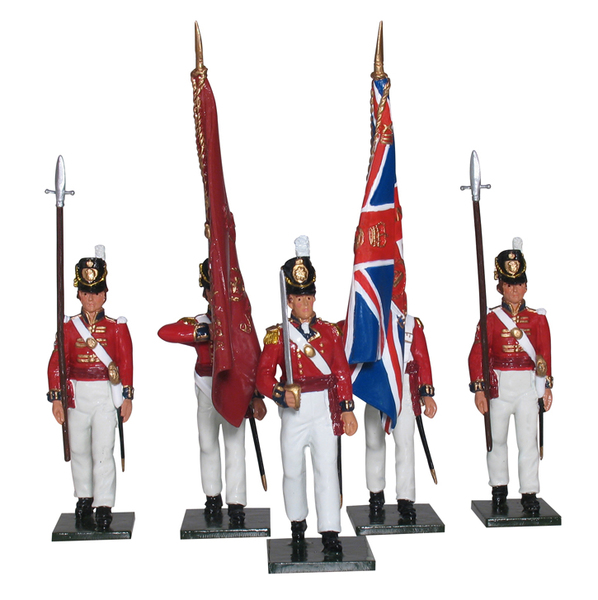 43154 - The Coldstream Regiment of Foot Guards Colour Party, Napoleonic Wars, 1815