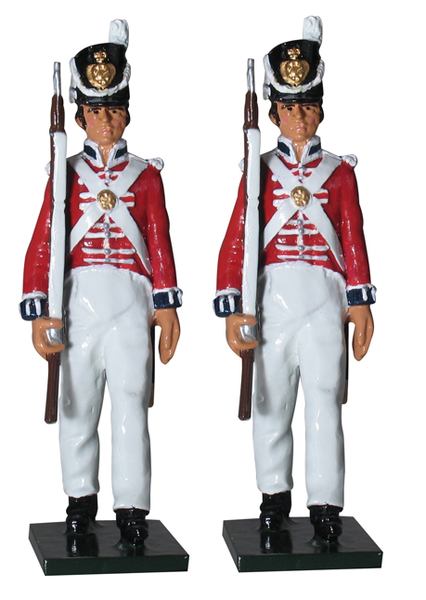 43155 - The Coldstream Regiment of Foot Guards Enlisted Men Marching, Napoleonic Wars, 1815