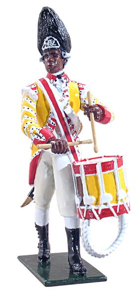 44025 - Drummer, 29th Regiment of Foot, 1768