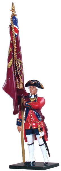 47004 - British Ensign 1st Foot Guards, King's Colour Guards, 1754-1763