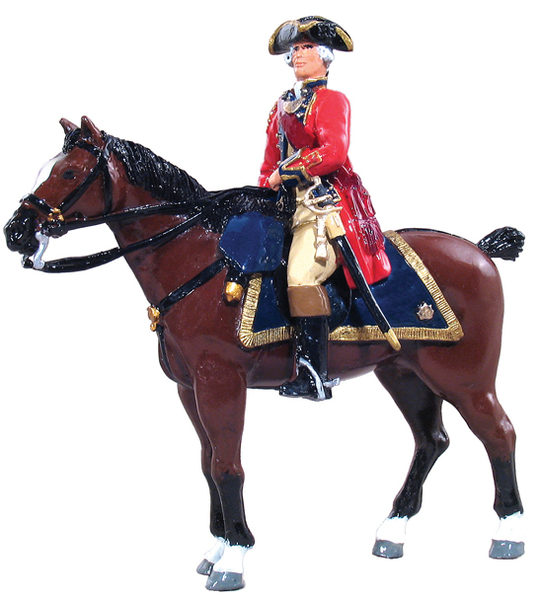 47006 - British Officer Mounted 1st Foot Guards, 1754-1763