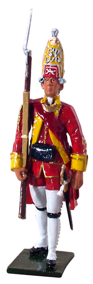 47011 - British Grenadier Officer, 15th Regiment of Foot, 1754-1763