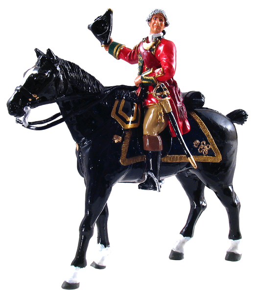 47021 - British 45th Regiment Officer, Mounted, 1754-1763