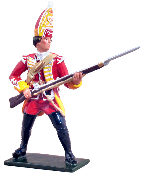 47024 - British 35th Regiment Grenadier At-The-Ready, 1754-1763