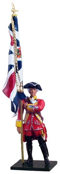 47031 - British 35th Regiment of Foot King's Colour, 1754-1763